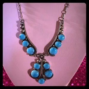 Jewelry - Navajo DANIEL MIKE Sterling-Turquoise Necklace
